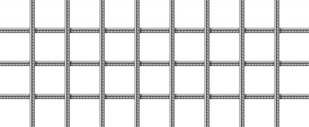 鋼鉄筋のグリッド、溶接金属ワイヤーメッシュ 無料ベクター