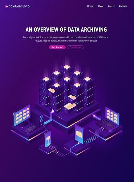 データアーカイブバナーの概要 無料ベクター