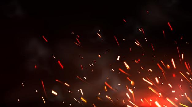 溶接火花または金属切削ブレード作業の背景 無料ベクター