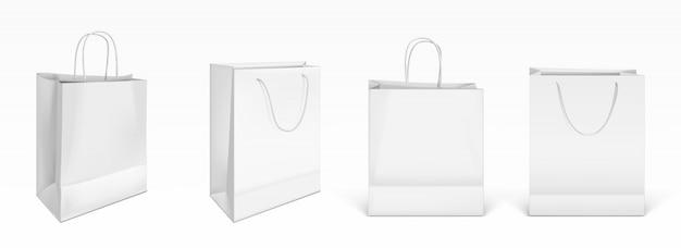 ホワイトペーパーショッピングバッグ 無料ベクター