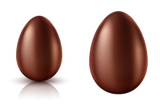 チョコレートエッグ全体がリアル 無料ベクター