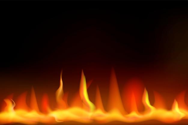 火のベクトルのデザイン Premiumベクター