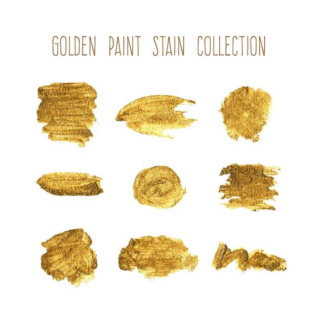 Коллекция золотых пятен Бесплатные векторы