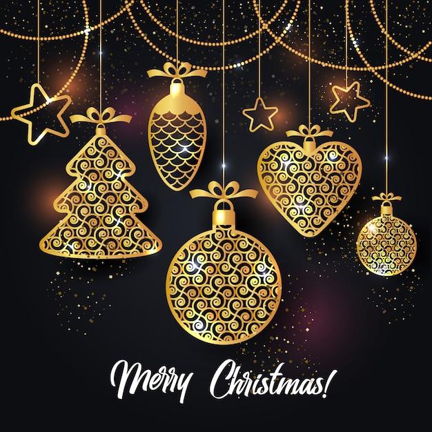 クリスマスの背景のベクトル図 Premiumベクター