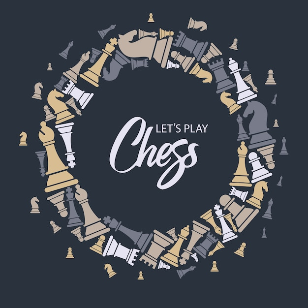 Бесшовные с шахматными фигурами Premium векторы