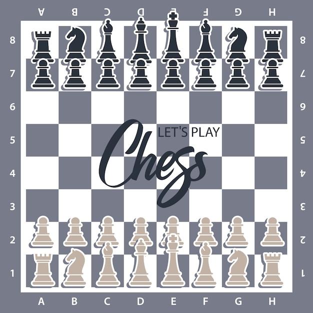 数字でチェス盤 Premiumベクター