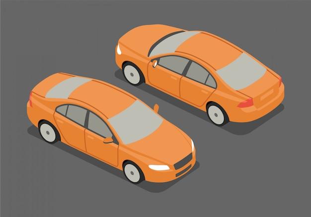 Изометрические седан векторная иллюстрация Premium векторы