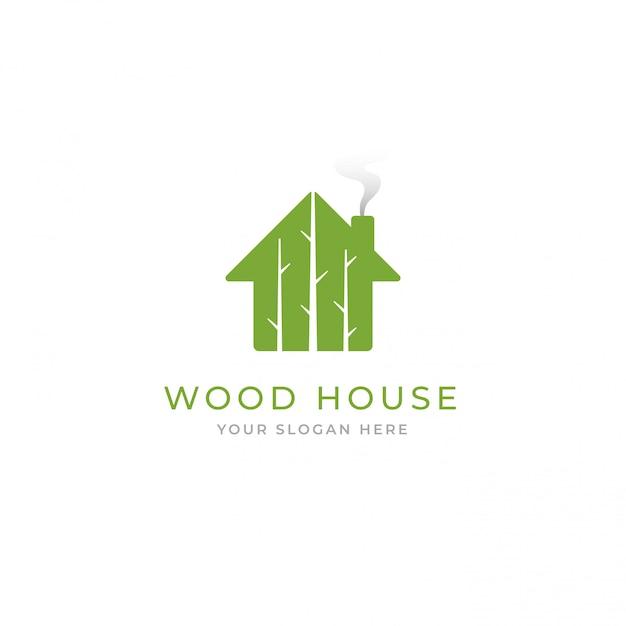 ツリーハウスのロゴ Premiumベクター