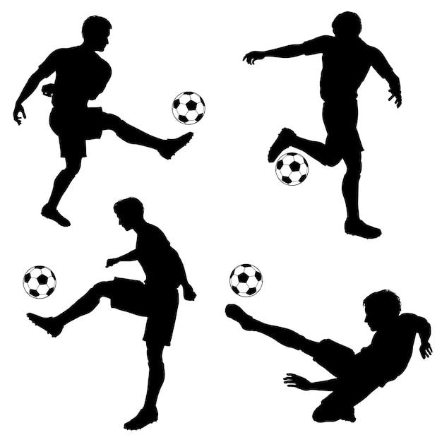 シルエットのフットボール選手 Premiumベクター