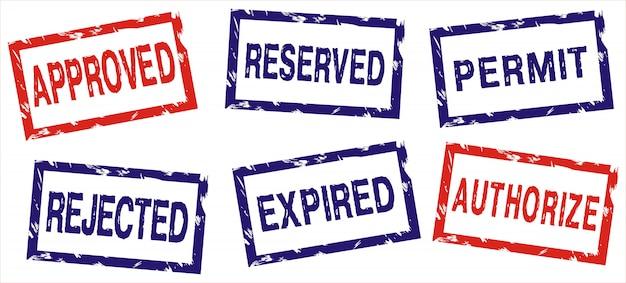 Различные наборы марок Premium векторы