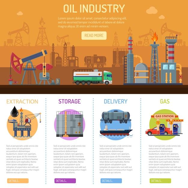 Нефтяная промышленность инфографика Premium векторы