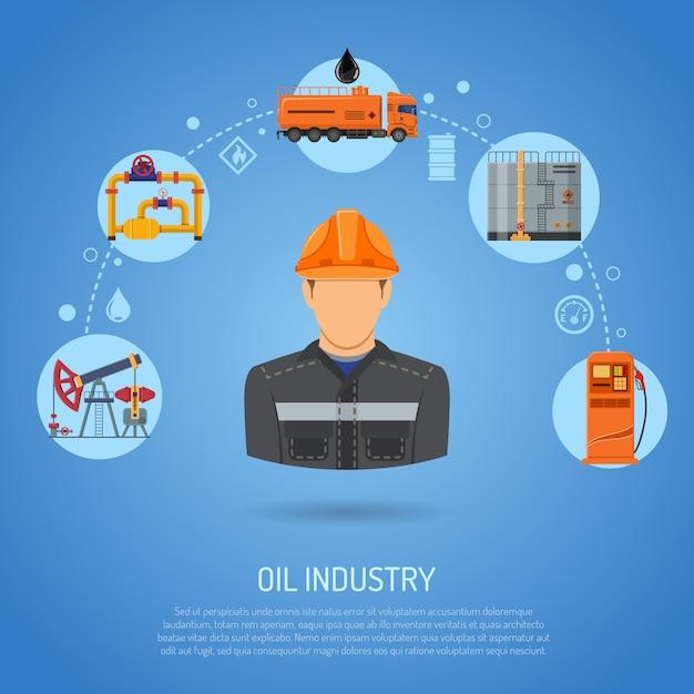 Концепция нефтяной промышленности Premium векторы