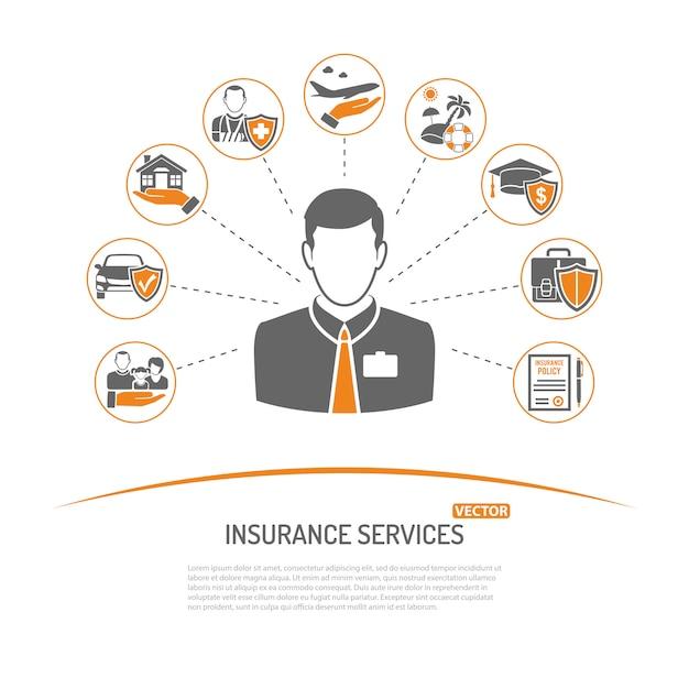 保険サービスのコンセプト Premiumベクター