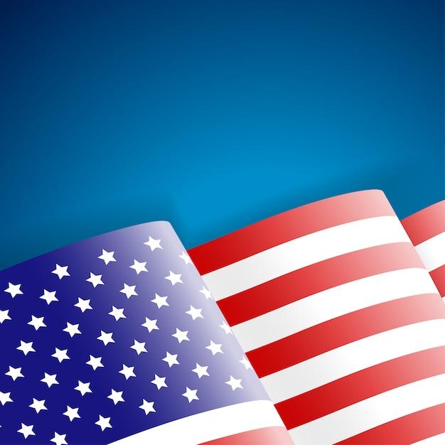 Американский флаг Premium векторы
