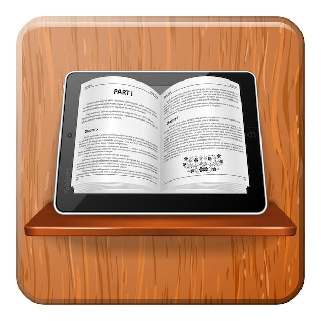 Концепция электронной книги Premium векторы