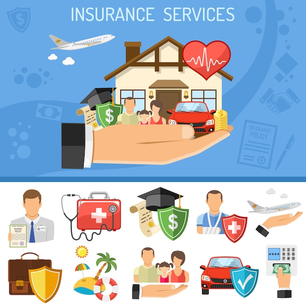 保険サービスの概念 Premiumベクター