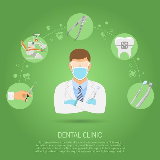 Концепция стоматологической клиники Premium векторы