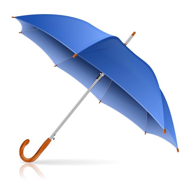 青い傘 Premiumベクター