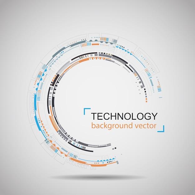抽象的な技術の背景 Premiumベクター