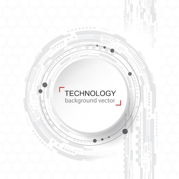 抽象的な技術の背景。デジタルネットワークとハイテクの概念。 Premiumベクター