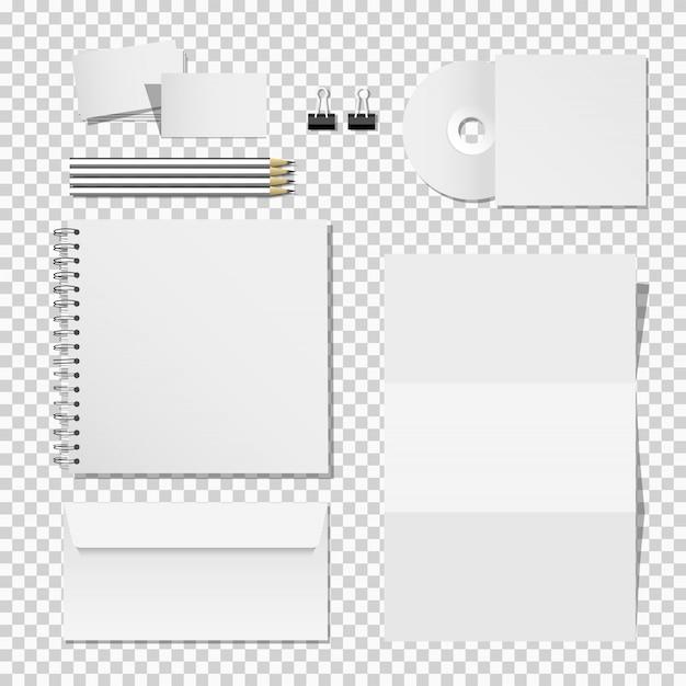 ビジネスアイデンティティの印刷材料テンプレートの企業モックアップセット Premiumベクター