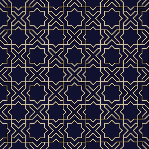 星と抽象的なアラビアのシームレスパターン Premiumベクター
