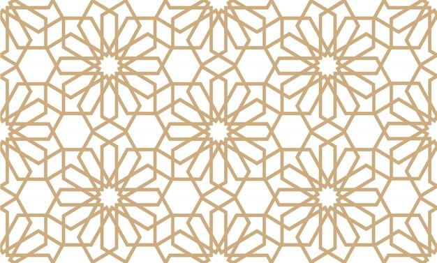 アラビア風の幾何学的なシームレスパターン Premiumベクター