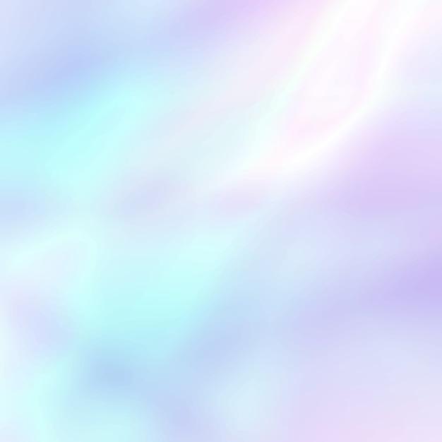 パステル調の光の色で抽象的なソフトホログラフィック背景 Premiumベクター