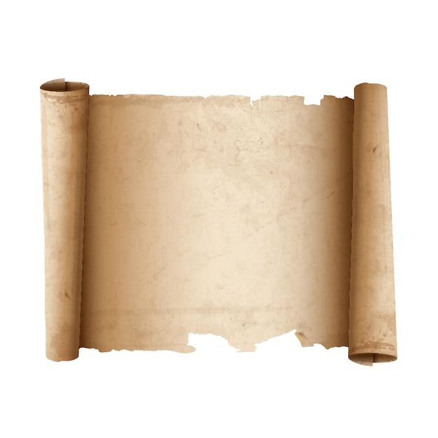 古代のスクロール紙 Premiumベクター