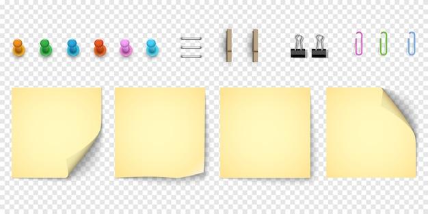 Желтая бумага для заметок с загнутым уголком Premium векторы