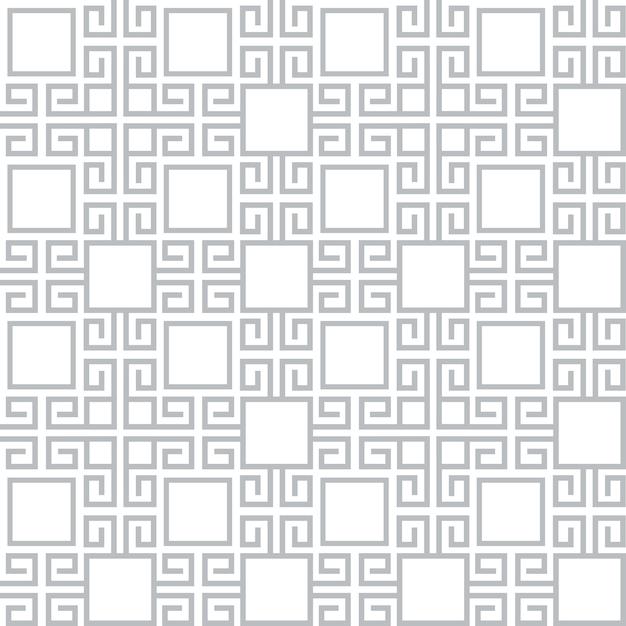 グレーと白のテクスチャエスニックスタイルのシームレスパターン Premiumベクター