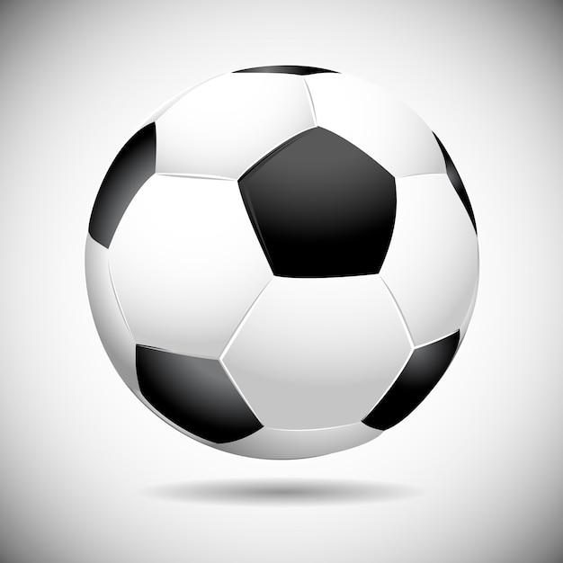 黒と白のサッカーボールのベクトル図 Premiumベクター
