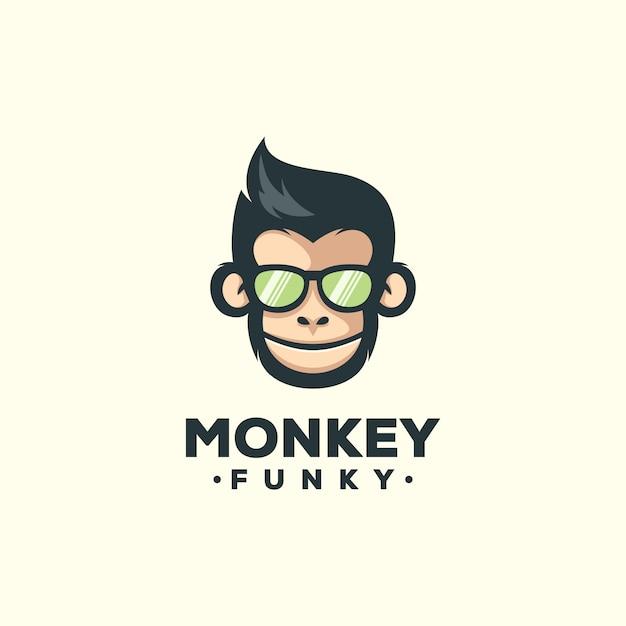 猿のマスコットテンプレート Premiumベクター