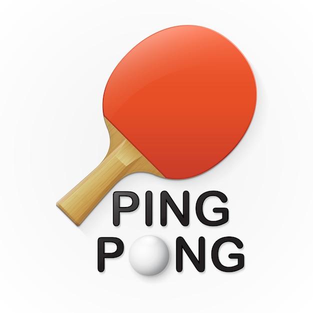 Пинг-понг Premium векторы