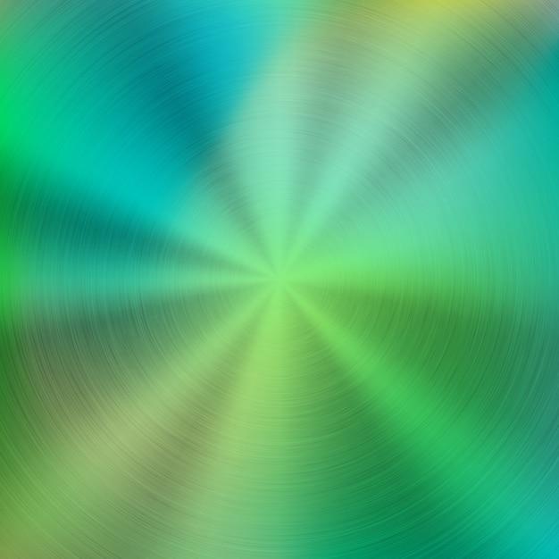 金属緑の抽象的なカラフルなグラデーション技術の背景 Premiumベクター