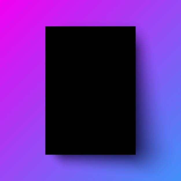黒いポスターのリアルなテンプレート Premiumベクター