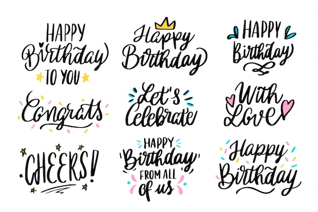 Поздравления с днем рождения Бесплатные векторы