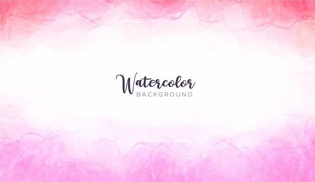 ピンクの水彩画の背景 無料ベクター