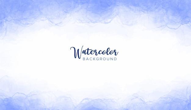 青い水彩テクスチャ背景 無料ベクター
