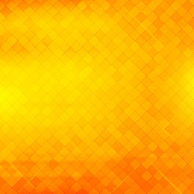 美しい幾何学的な黄色とオレンジ色の背景 無料ベクター