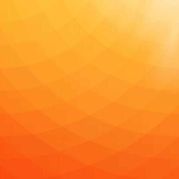オレンジと黄色の色調で抽象的な幾何学的な背景 無料ベクター