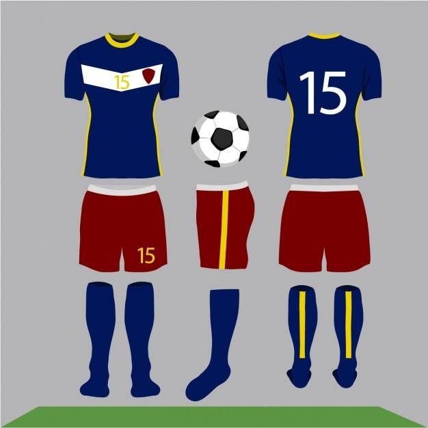 サッカーの服のデザイン 無料ベクター