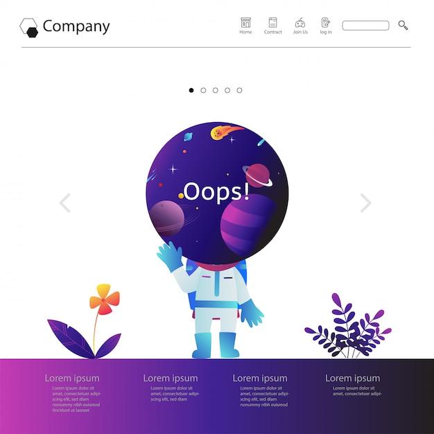 ウェブサイトのテンプレートデザイン Premiumベクター