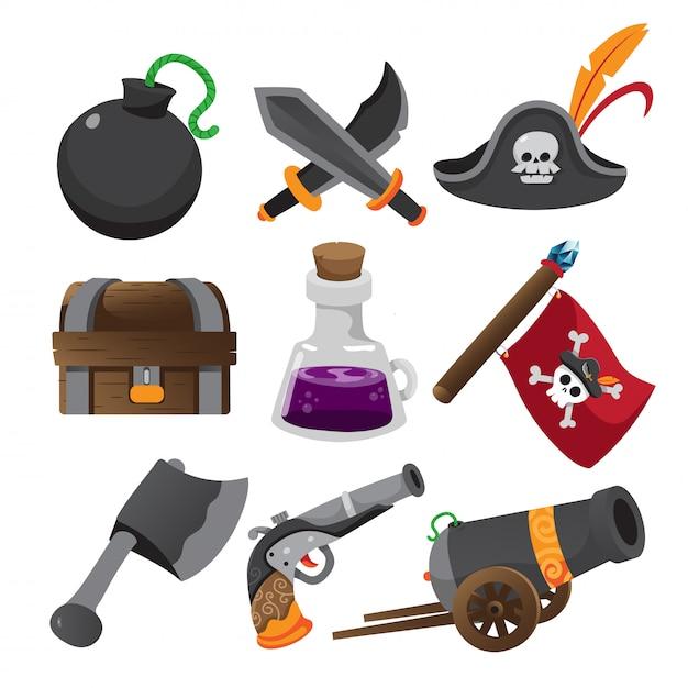 Предмет игры, иконки приложений, набор игр Premium векторы