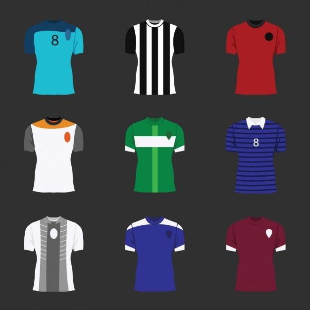 サッカーシャツコレクション 無料ベクター
