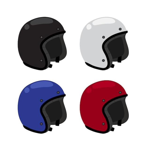 ヘルメットコレクションデザイン Premiumベクター