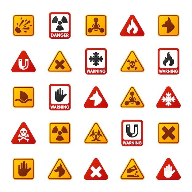 危険警告注意記号アイコン Premiumベクター