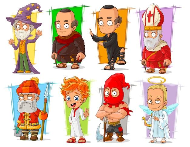 Мультяшный классный прикол разных персонажей Premium векторы