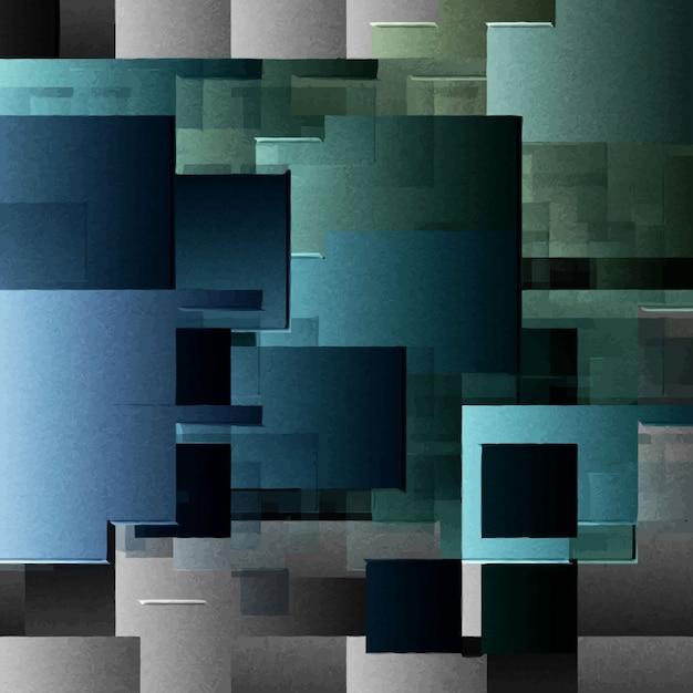 正方形のある抽象的な背景 無料ベクター