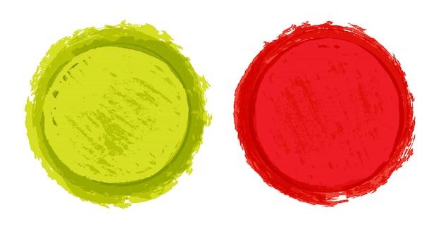 カラーグランジラウンドシェイプ Premiumベクター